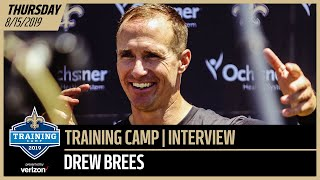 Drew Brees Talks Practicing with Chargers at Saints Training Camp | New Orleans Saints
