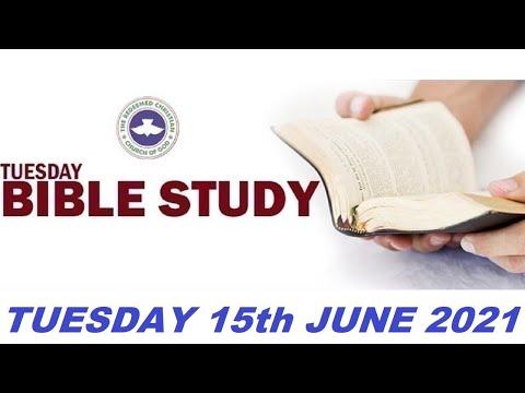 RCCG JUNE 15th 2021 BIBLE STUDY