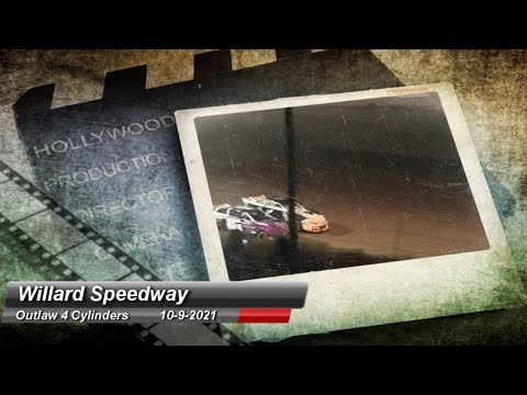 Willard Speedway - Outlaw 4 Cylinder Feature - 10/9/2021 - dirt track racing video image