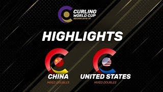 HIGHLIGHTS: United States v China - Mixed Doubles - Curling World Cup Grand Final - Beijing, China