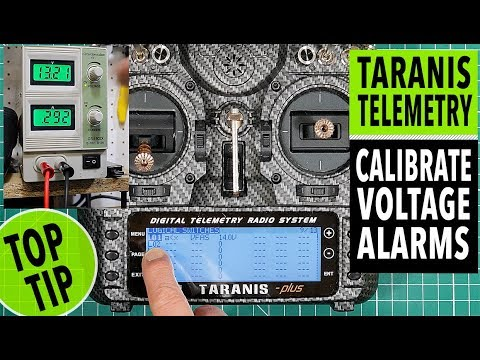 Taranis X9D telemetry - calibrated low voltage alarms and warnings tutorial - UCmU_BEmr7Nq_H_l9XxUglGw