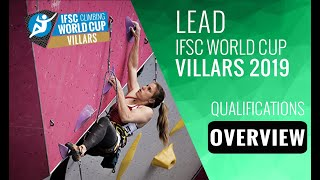 IFSC Climbing World Cup Villars 2019 - Lead - Qualification Overview