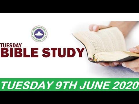 RCCG JUNE 9TH 2020 BIBLE STUDY