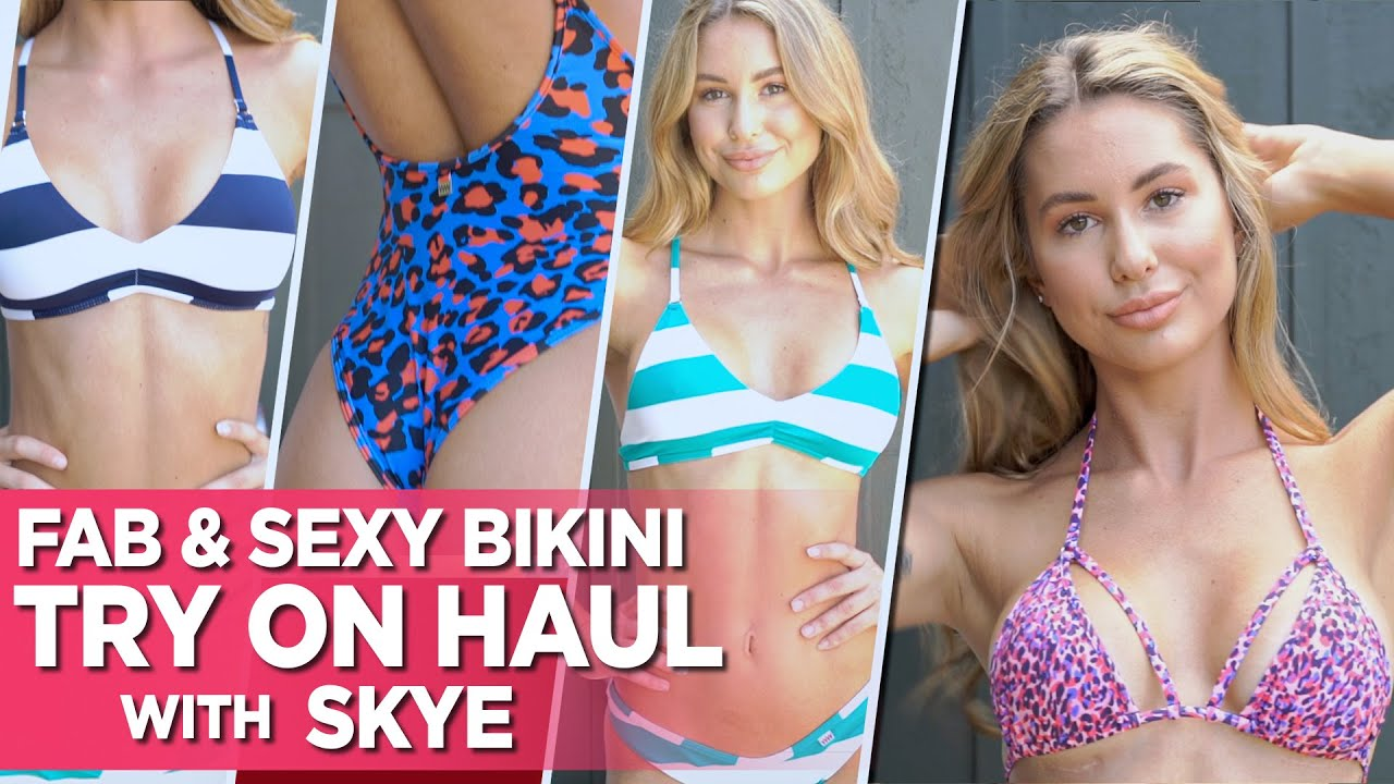Sexy Bikini Try On Haul With Skye Ft. Fab and Pretty Wicked Weasel Prints