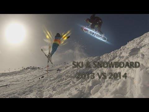 Sky & SnowBoard Freestyle [GoPro Hero HD] 2013 vs 2014