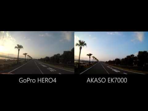 GoPro HERO4 & AKASO EK7000 4K Comparative test.