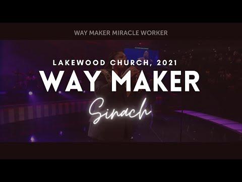 WAY MAKER - LakeWood Church, 2021  SINACH