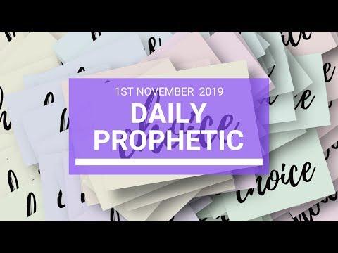 Daily Prophetic 1 November 2019 Word 3