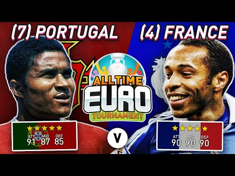 Portugal All-Time XI vs France All-Time XI | FIFA 20 All-Time EURO Semi-Finals!