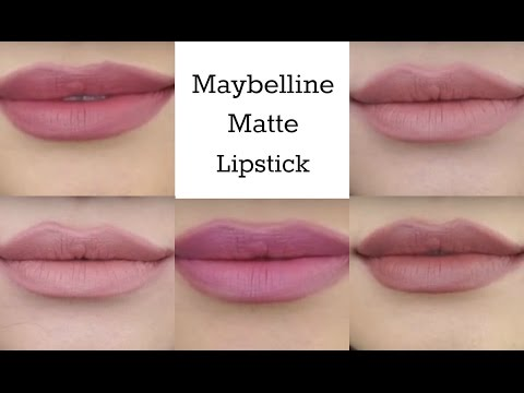 Maybelline Creamy Matte Lipcolor Swatches - default