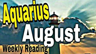 Aquarius August2019 WORRIES A NEED FOR PATIENCE,  WHAT'S COMING IS BETTER THAN YOU EXPECT Tarot Read