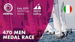 470 Men Medal Race | Hempel World Cup Series Genoa 2019