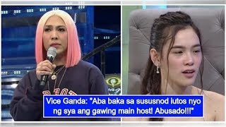 Vice Ganda gets furious at netizen ranting about Jackie's exposure on 'Showtime'