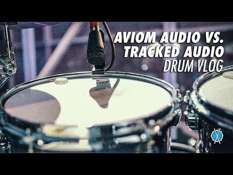 Aviom Audio vs. Tracked Audio // Drum Vlog