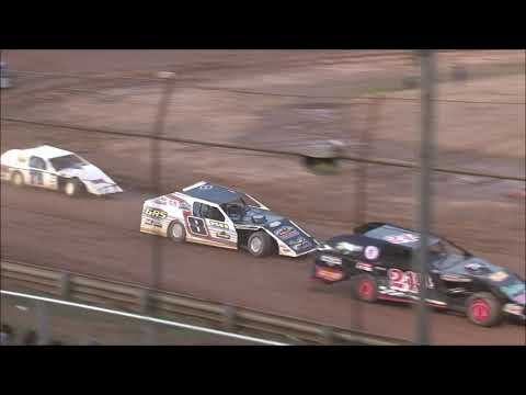 The makeup Modified feature from the Tyler County Speedway near Middlebourne, West Virginia on June 6, 2020. www.OVDTR.com - dirt track racing video image