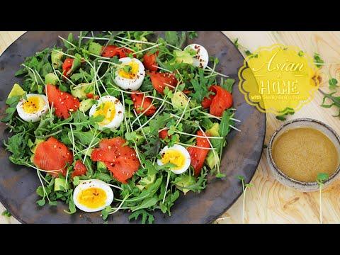 Smoked Salmon Salad with Miso Dressing - UCIvA9ZGeoR6CH2e0DZtvxzw