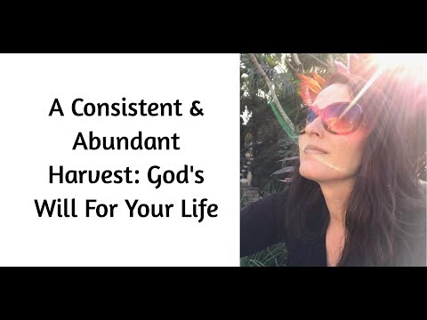 A Consistent & Abundant Harvest: God's Will For You