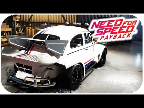 NEED FOR SPEED PAYBACK GAMEPLAY - VW Beetle Customization Gameplay - 'Herbie Fully Loaded' - default
