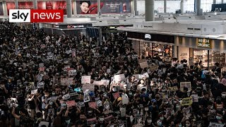 Hong Kong: 'Unprecedented' disruption as flights are cancelled