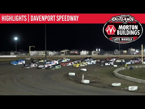 World of Outlaws Morton Building Late Models at Davenport Speedway August 27, 2021 | HIGHLIGHTS - dirt track racing video image