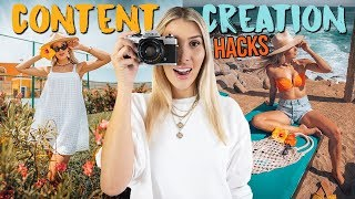 5 CONTENT CREATION HACKS (Instagram Photo Tips + Tricks You NEED To Know)