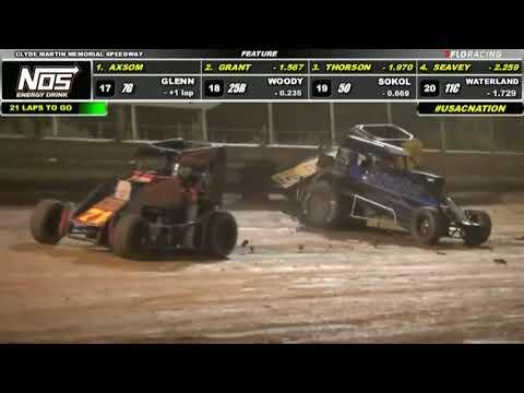 HIGHLIGHTS: Lanco   USAC NOS Energy Drink National Midgets   8/7/2021 - dirt track racing video image