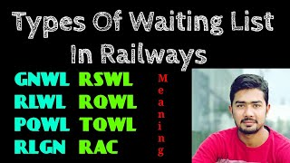 Waiting List | Types | Indian Railways | Confirmation Rules