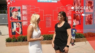 Walkabout the tournament grounds with Olympic gold medalist Rebecca Johnston medalist