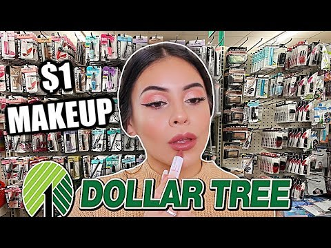 FULL FACE OF DOLLAR TREE MAKEUP: $1 MAKEUP DEALS