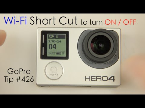 Hero4 Wi-Fi Short Cut to turn ON / OFF - GoPro Tip #426 - UCTs-d2DgyuJVRICivxe2Ktg