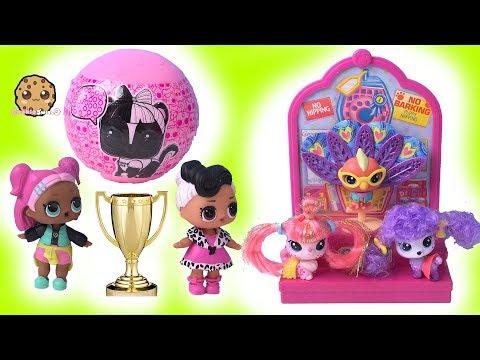 LOL Surprise PET CONTEST ! Blind Bag Ball Play Video - Cookie Swirl C - UCelMeixAOTs2OQAAi9wU8-g
