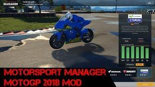 Managing A MotoGP Team - Motorsport Manager With MotoGP 2018 Mod