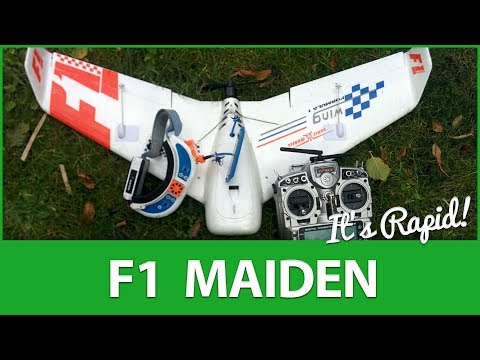 """ITS RAPID!"" ✈️ Maiden Flight: Sonicmodell F1 FPV RaceWing - UCWP6vjgBw1y15xHAyTDyUTw"