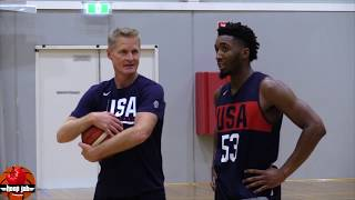 Donovan Mitchell Works Out With Steve Kerr In Australia. USA Basketball 2019 HoopJab NBA