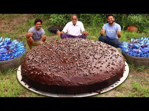 BIGGEST OREO CHOCOLATE CAKE RECIPE  PREPARED BY OUR GRANDPA | Oreo Biscuit cake Recipe