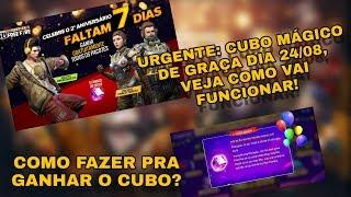 OFICIAL! VEJA COMO GANHAR SEU CUBO MÁGICO DIA 24/08/ PACOTE FORÇA TAREFA E FORÇA DE ASSALTO!