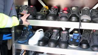 Darbo rūbų, avalynės ir saugos priemonių DEMOBUSAS