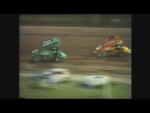 1997 Sprintcars USA vs Aust (with Steve Kinser): Archerfield Speedway | 8th January 1997 - dirt track racing video image