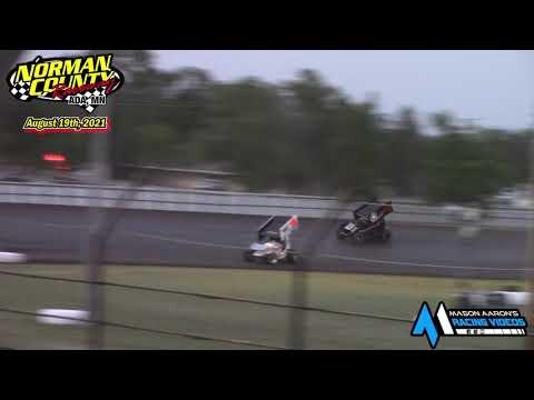 Norman County Raceway IMCA Racesaver Sprint Races (8/19/21) - dirt track racing video image