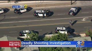 Large Police Presence In Arleta Neighborhood Following Fatal Officer-Involved Shooting