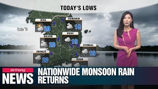 Nationwide monsoon rain returns_071019