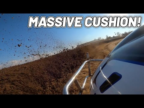 Tanner Holmes Right Rear Cam At Attica Raceway Park! (MASSIVE CUSHION) - dirt track racing video image