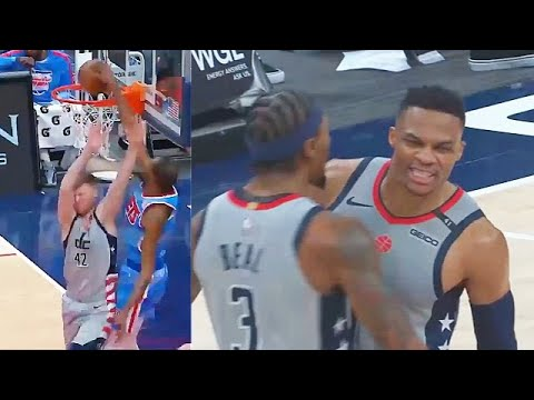 Kevin Durant Tryna Murder Davis Bertans & Russell Westbrook Game Winner! Nets vs Wizards