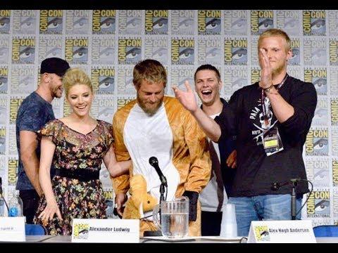 FUNNY! Travis Fimmel (Ragnar) Crashes 'VIKINGS' Comic-Con Panel in Kangaroo Costume - default