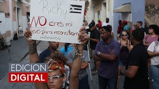 Siguen las protestas en Puerto Rico contra el gobernador Ricardo Rosselló