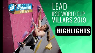 IFSC Climbing World Cup Villars 2019 - Lead- Highlights