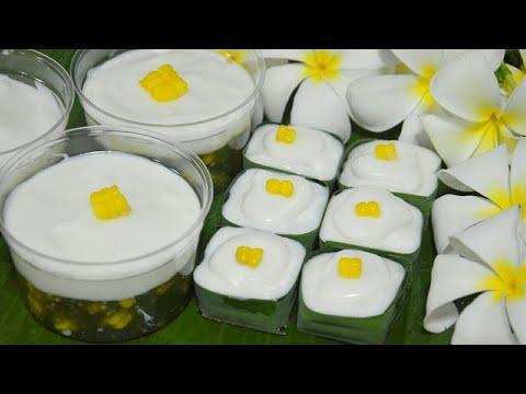 ตะโก้สาคูข้าวโพดใบเตย ขนมไทยทำง่ายต้นทุนต่ำ ขายง่ายกำไรดี