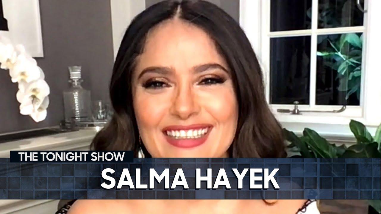 Salma Hayek Practiced Cursing to Impress Samuel L. Jackson | The Tonight Show Starring Jimmy Fallon