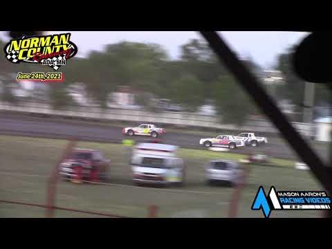 Norman County Raceway IMCA Stock Car A-Main (6/24/21) - dirt track racing video image