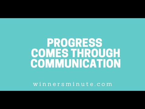 Progress Comes Through Communication // The Winner's Minute With Mac Hammond